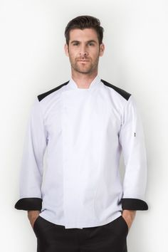 Get your game on with the Rally jacket, giving you the sporty side of chef life. Long sleeve with turn back cuffs, sleeve pocket. Contrast at front and back Back Shoulder, Rally, Chef Jackets, Contrast, Sporty, Long Sleeve, Kitchen, Sleeves, Cotton