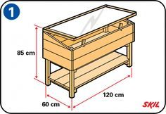 You don't need to buy a wooden cold frame – it's easy to build your own. You'll find simple, step-by-step instructions here for making a cold frame. Cheap Greenhouse, Greenhouse Interiors, Backyard Greenhouse, Mini Greenhouse, Greenhouse Plans, Balcony Gardening, Cold Frame Gardening, Homemade Greenhouse, Organic Gardening