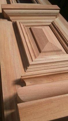 Wooden Front Door Design, Wood Front Doors, House Front Design, Wooden Doors, Wood Design, Wood Cabinet Doors, Wood Molding, Moldings, Craftsman Interior