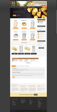 "KK Bullion ""buy gold online"" website built by Digital Storm #digitalstorm"
