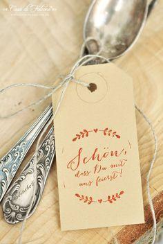 Schöner heiraten: rustikale Hochzeitssstempel Ranke I Gastgeschenk I Verpackungsidee I Casa di Falcone