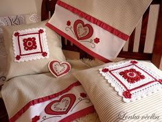 Vintage is a fascinating word. This word came to us from France. Vintage (Vintage), translated into Crochet Home, Knit Crochet, Cross Stitch Patterns, Crochet Patterns, Crochet Pillow, Vintage Pillows, Christmas Stockings, Free Pattern, Reusable Tote Bags