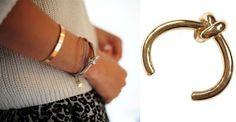 DIY Celine Inspired Knot Bracelet--polymer clay knot bracelet