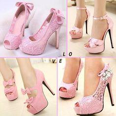 4 different pink heels