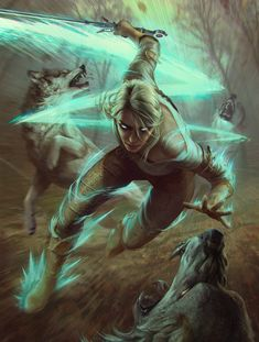 Ciri Dashing is an official concept artwork for The Witcher Wild Hunt, the video game created by CD PROJEKT RED and GWENT, the Witcher card game. The ar Mais The Witcher 3, Ciri Witcher, Witcher Art, Witcher 3 Wild Hunt, Fantasy Kunst, Fantasy Rpg, Fantasy Artwork, Fantasy Inspiration, Character Inspiration