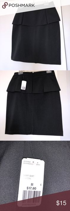 BRAND NEW PEPLUM SKIRT FOREVER 21 Never worn w tags. Charcoal grey color size M Forever 21 Skirts