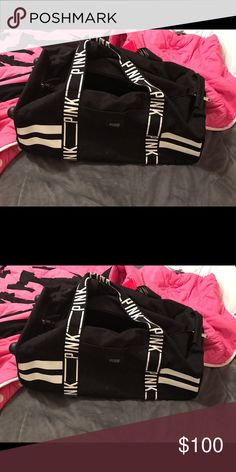 Vs pink luggage With wheels. Only used a few times PINK Victoria's Secret Accessories