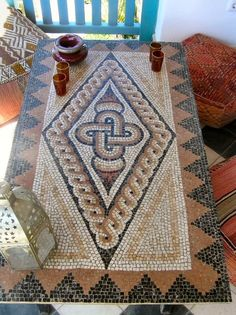 Roman Mosaic Tables #mosaic