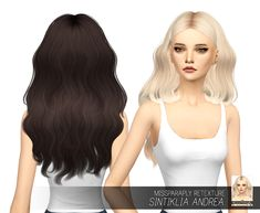 Miss Paraply: Sintiklia`s Andrea hair retextured - Sims 4 Hairs - http://sims4hairs.com/miss-paraply-sintiklias-andrea-hair-retextured/