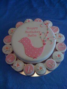 Bellas first birthday cake by Sandra (socake), via Flickr
