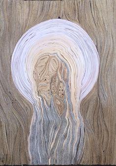Repentance # 1, 38,5x28,5x3,5 cm, paper, glue, varnish, 2014.