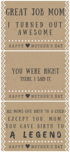 30 Funny Mother's day cards - Free printables with hilarious quotes and poems!