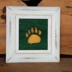 Framed #Baylor bear paw. #SicEm