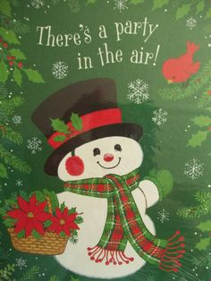 Vintage Hallmark Christmas Holiday Party Invitations.