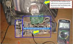 electronics repair made easy: How to troubleshoot CRT Television switch mode power supply problems (s. Switched Mode Power Supply, Crt Tv, Samsung, Circuit Diagram, Make It Simple, Electronics, Easy, Board, Sign