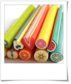 fimo clay fruit canes