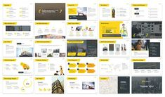 Manuva - Manufacture Keynote by SlideFactory on Process Flow Chart, Construction Business, Animation Tutorial, Image Layout, Color Themes, Colors, Keynote Template, Infographic, Presentation