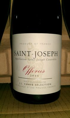 JL Chave Saint-Joseph - A great introduction to one of the best and brightest of the Rhone Valley. $59ea