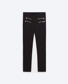 Image 8 of BIKER TROUSERS WITH ZIPS from Zara