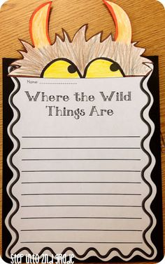 Where the Wild Things Are writing craftivity, free downloads