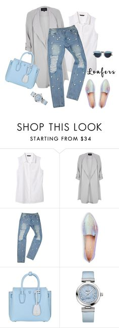 """""""outfit 4788"""" by natalyag ❤ liked on Polyvore featuring Banana Republic, River Island, Kate Spade, MCM and OMEGA"""