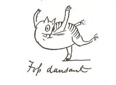 Foss dansant |  drawing of the artist's cat | Edward Lear