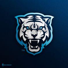 White Tiger mascot logo design, already sold. Logo Esport, Ink Logo, Team Logo, Tiger Illustration, White Tiger Tattoo, Tiger Vector, Tiger Art, Tiger Head, Background Design Vector