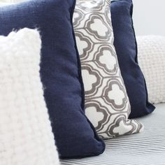 T•E•X•T•U•R•E  An effective way to create interest in your home is to use different textures. This is especially important when you have a neutral or monochromatic colour scheme.⠀⠀⠀⠀⠀⠀⠀⠀⠀ ⠀⠀⠀⠀⠀⠀⠀⠀⠀ Here I have used the raised texture of the white cushion against the slub of the navy and the embroidery of the white and grey cushions.⠀⠀⠀⠀⠀⠀⠀⠀⠀ ⠀⠀⠀⠀⠀⠀⠀⠀⠀ How have you used texture in your home? Monochromatic Color Scheme, White Cushions, Different Textures, Color Schemes, Neutral, Colour, Embroidery, Blanket, Navy