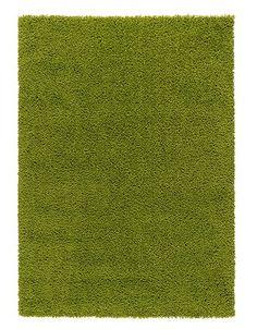 Ковер, длинный ворс, ярко-зеленый, ХАМПЭН, IKEA