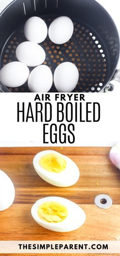 Whether it's Easter or you're just looking for a quick and easy way to boil eggs, learn how to make Hard Boiled Eggs in Air Fryer and you'll have perfect eggs in minutes! Easy to peel and pretty much perfect! Air Fryer Oven Recipes, Air Frier Recipes, Air Fryer Dinner Recipes, Air Fryer Cooking Times, Cooks Air Fryer, Making Hard Boiled Eggs, Hard Boiled Eggs Recipe, Boiled Egg In Microwave, Easy Peel Boiled Eggs