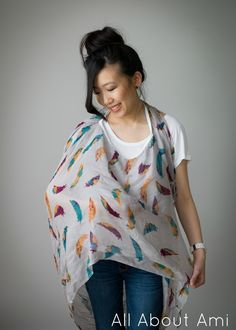 Nursing cover that doubles as a scarf! A useful accessory.