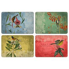 Jason Catesby Collage Hardboard Cork-Backed Placemats (Set of 4) - BedBathandBeyond.com