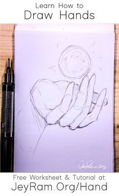 How to Draw Hands: Free Worksheet