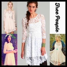 """❌SOLD FREE PEOPLE BOHO CHIFFON LACE SHORT DRESS FREE PEOPLE BOHO CHIFFON LACE SHORT DRESS  NEW WITH TAGS     * Allover beautiful Crochet eyelet floral embellished lace overlay * A-line * Long sleeves & a stretch-to-fit style * Subtly flared asymmetrical skirt * Measures about 32-36"""" long ***Tagged size 0(XS), will approx fit sizes 0-2  Fabric: Nylon & spandex Item: Color: White Ivory # Pastel # chiffon like lining  No Trades ✅Offers Considered*/Bundle Discounts✅ *Please use the 'offer'…"""