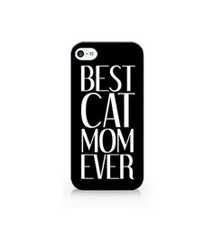 Case for iPhone 5/5S/5SE - Cover all sides - Best Cat Mom Ever - Funny Quote Case - Cats - Cat Accessories For Pet - Pets Love. Size: Fit for your iPhone. Material: Durable plastic. Shipping time: 20-30 days. Package Included: 1 case, 1 Instruction, 1 Box. Package method: Envelope. 100% New brand and high quality.