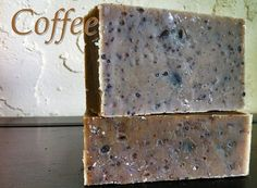Coffee soap  Unscented  Cold process  Vegan  All by BellaLunaFarms, $4.50