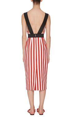 Striped Cotton Sheath Dress With Sunbather  by DOLCE & GABBANA Now Available on Moda Operandi
