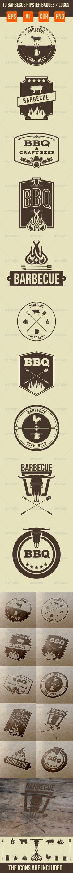 10 Barbecue Hipster Emblems For download - http://graphicriver.net/item/10-barbecue-hipster-emblems/6697371?WT.ac=portfolio&WT.z_author=ragerabbit