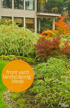 Boost your home's curb appeal with these front yard landscaping ideas: http://www.bhg.com/gardening/landscaping-projects/landscape-basics/front-yard-landscaping-ideas/?socsrc=bhgpin042014frontyardlandscaping