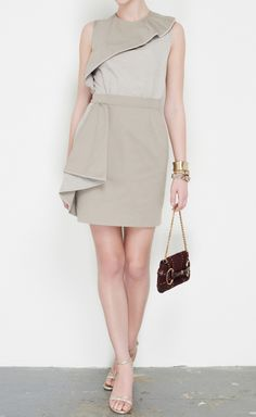 Carven Taupe Dress