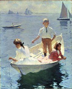 Frank Weston Benson, Calm Morning, 1904