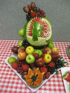 647-271-7971 Fruit Platters, Watermelon, Apple, Vegetables, Food, Meal, Essen, Vegetable Recipes, Hoods