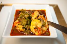 Fisherman's okra soup a rich African dish full of goodness