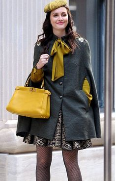 Stylish turn  Leighton Meester once again stepped out as her stylish  alter-ego Blair Waldorf, on the set of her hit show in New York today 09d74a9319