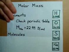How to Calculate Molar Mass - YouTube One mole of any element express: 1. Avogadro's number of atoms 2. The molar mass in grams. This can be written as a conversion factor.