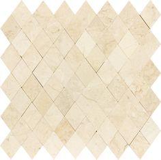 polished crema marfil mosaic   Bathroom Diamond Crema Marfil Polished Marble Stone Mosaic Tile