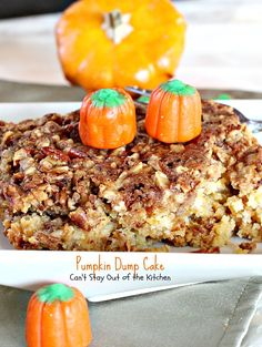 Pumpkin Dump Cake | Can't Stay Out of the Kitchen | This spectacular #cake has…