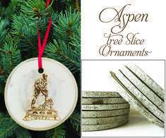 Aspen tree slice ornaments Laser engraved with your artwork Manufactured in Colorado USA from recycled trees Wooden Ornaments, Christmas Ornaments, Tree Slices, Colorado Usa, Aspen Trees, How To Make Ornaments, Wood Species, Laser Engraving, How To Memorize Things