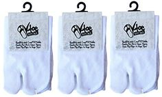 4f8802b82a87 V-Toe Black   Gray Crew Flip Flop Socks - Tabi Socks (3 Pair)  Amazon.co.uk   Clothing