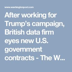 politics after working trumps campaign british data firm eyes government contracts adeec story